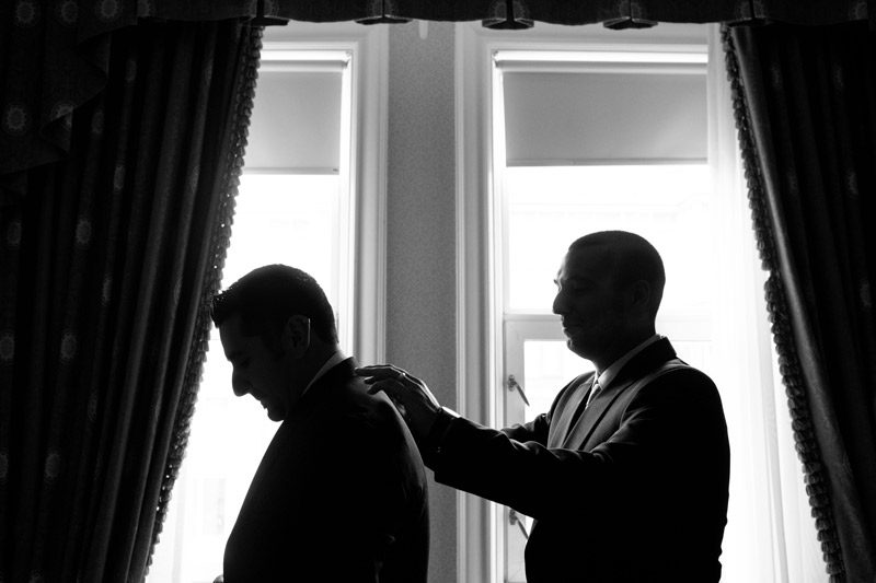 Ottawa Silhouette Groom Getting Ready
