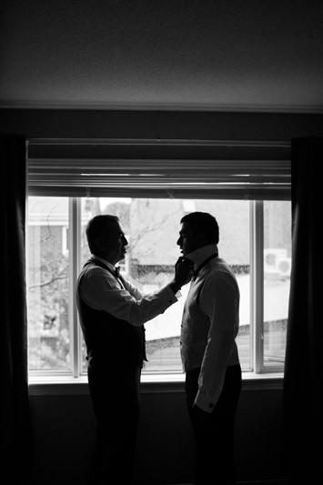 Groom Silhouette Portrait