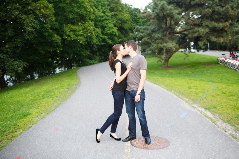 Ottawa Man and Woman Kiss