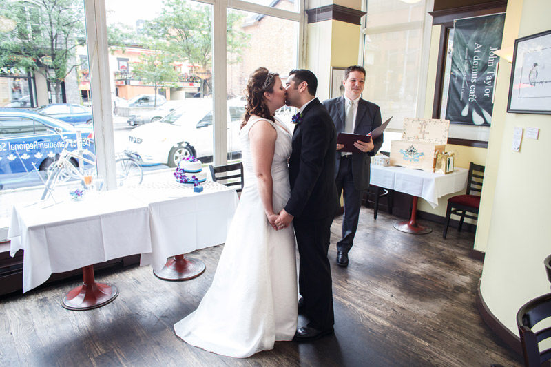 Ottawa Bride and Groom First Kiss