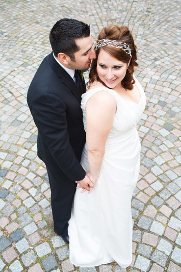 Ottawa Bride and Groom Cobblestone Photograph