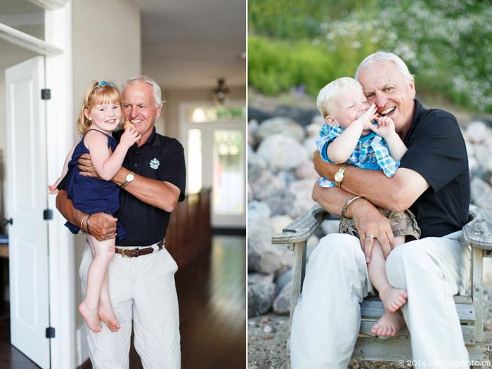 Arnprior Ontario Family Photographer Grandfather and grandkids