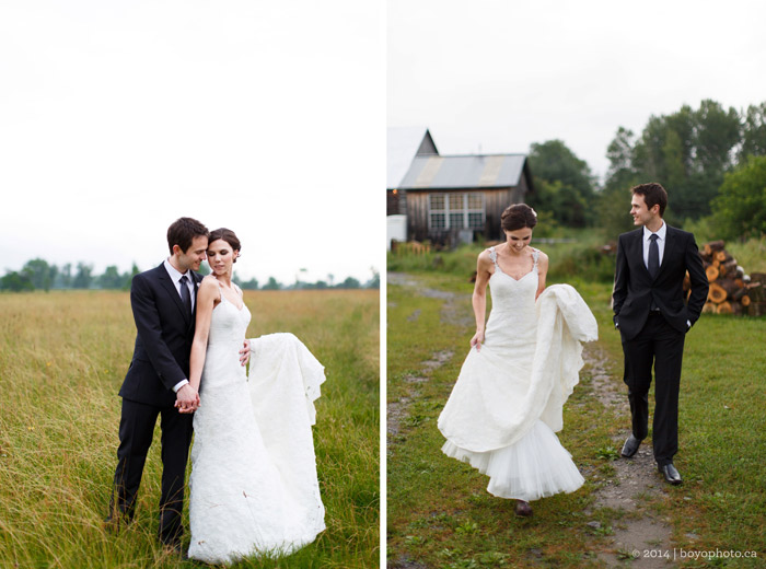 Happy-bride-and-groom-in-field-wedding