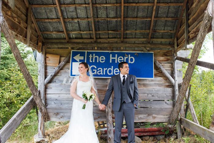 herb garden shed in ottawa wedding