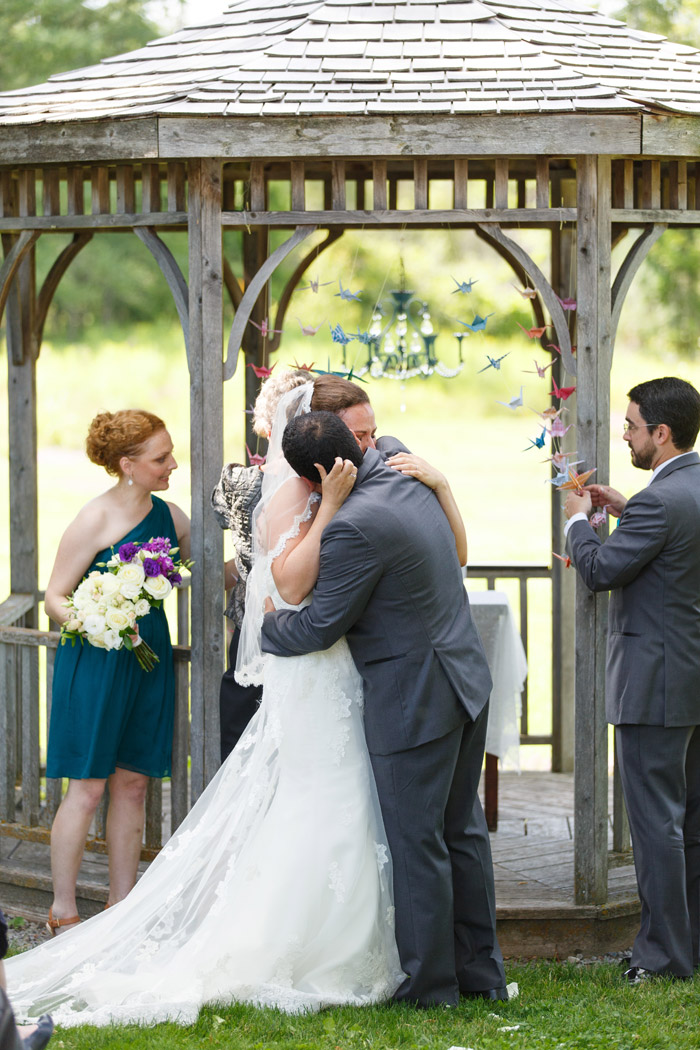 rustic wedding ceremony at the herb garden almonte
