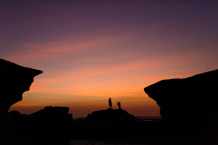 Tanah Lot Temple at sunset bali indonesia
