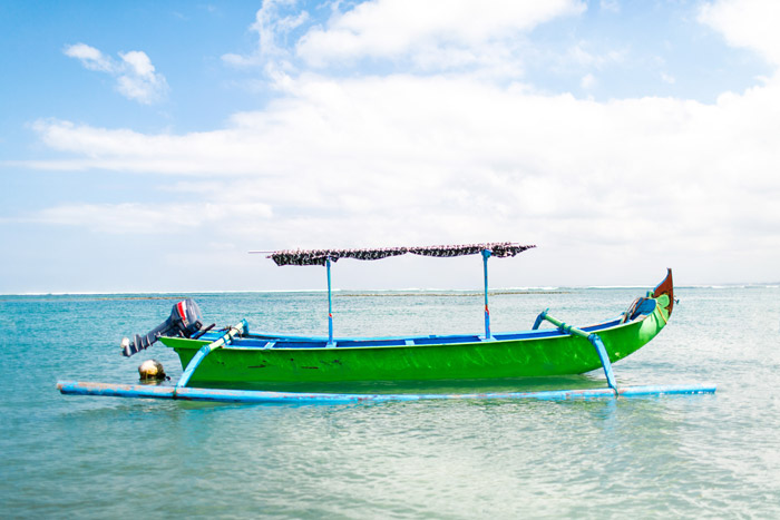 fishing boat in bali indonesia