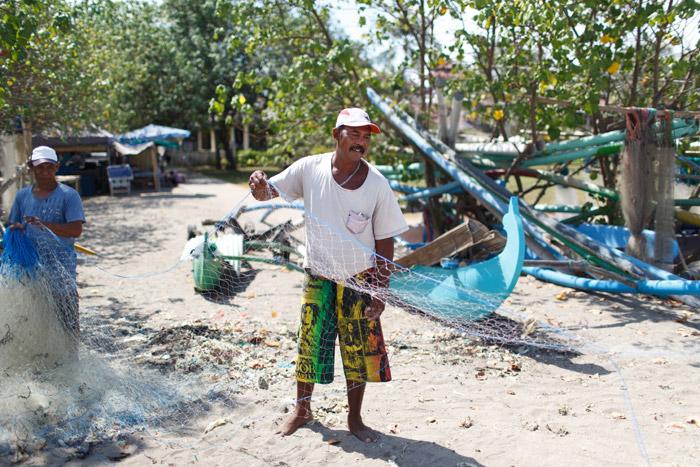 fishermen in bali indonesia